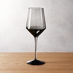 ghost smoke grey white wine glass