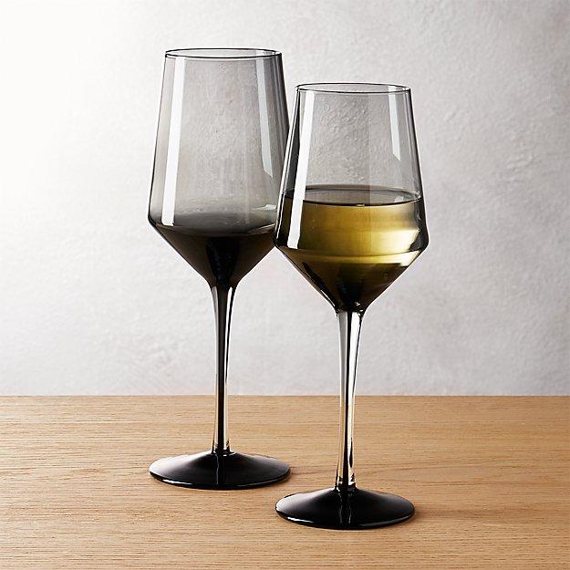 ghost smoke grey wine glasses