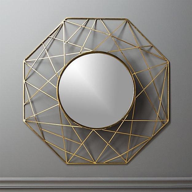 Round Wall Mirror gicobi round wall mirror | cb2