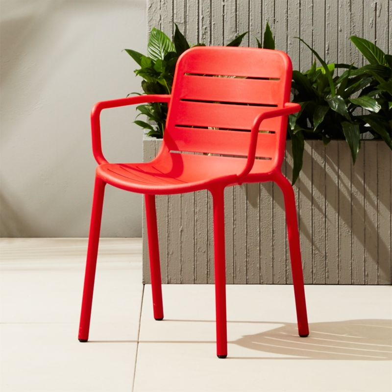 Gina Outdoor Red Chair | CB2