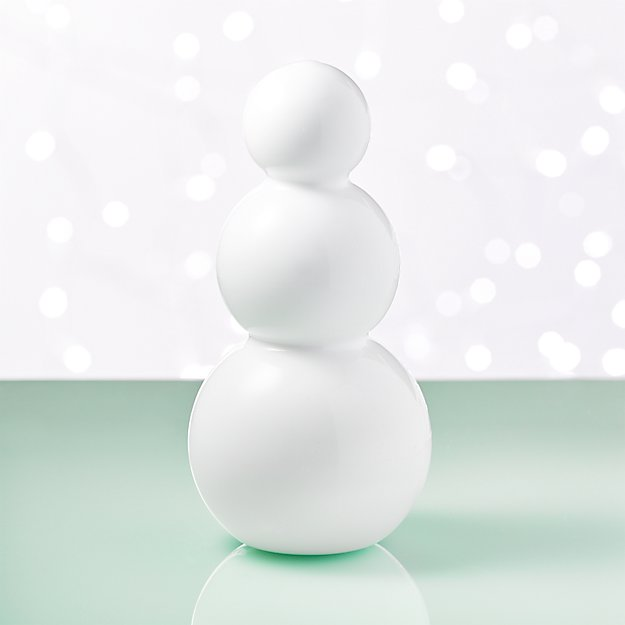 Large White Glass Snowman