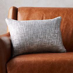 "18""x12"" glitterati silver pillow with down-alternative insert"