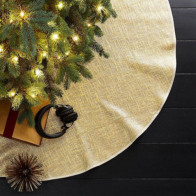 glitterati gold tree skirt - Gold Christmas Tree Skirt
