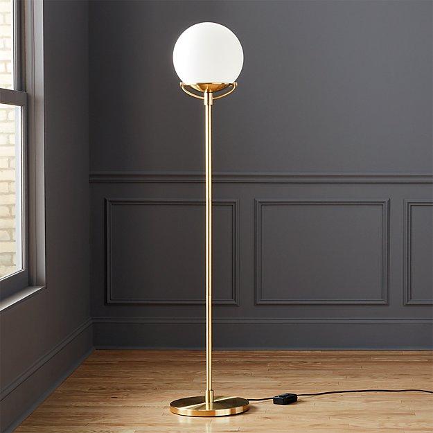 Globe brass floor lamp cb2 for Cb2 lamp pool floor lamp