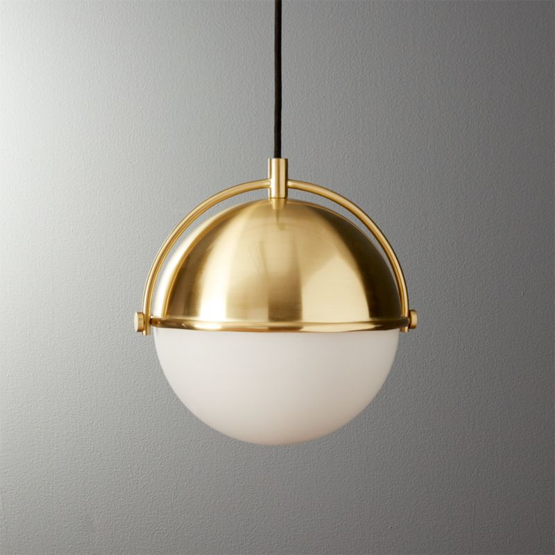 Globe Small Brass Pendant Light