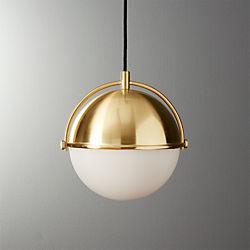 Globe Small Brass Pendant Light
