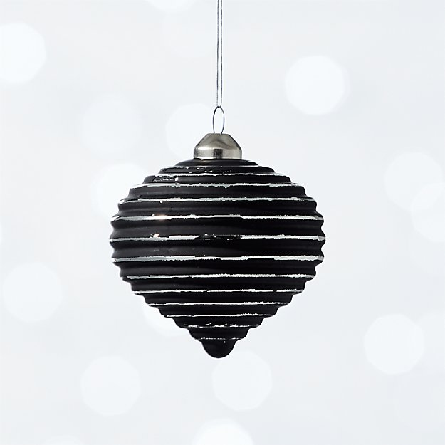 glow matte black onion ornament