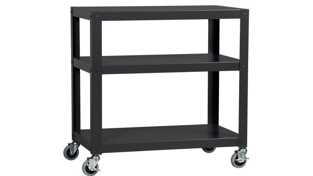 go-cart black rolling cart | CB2