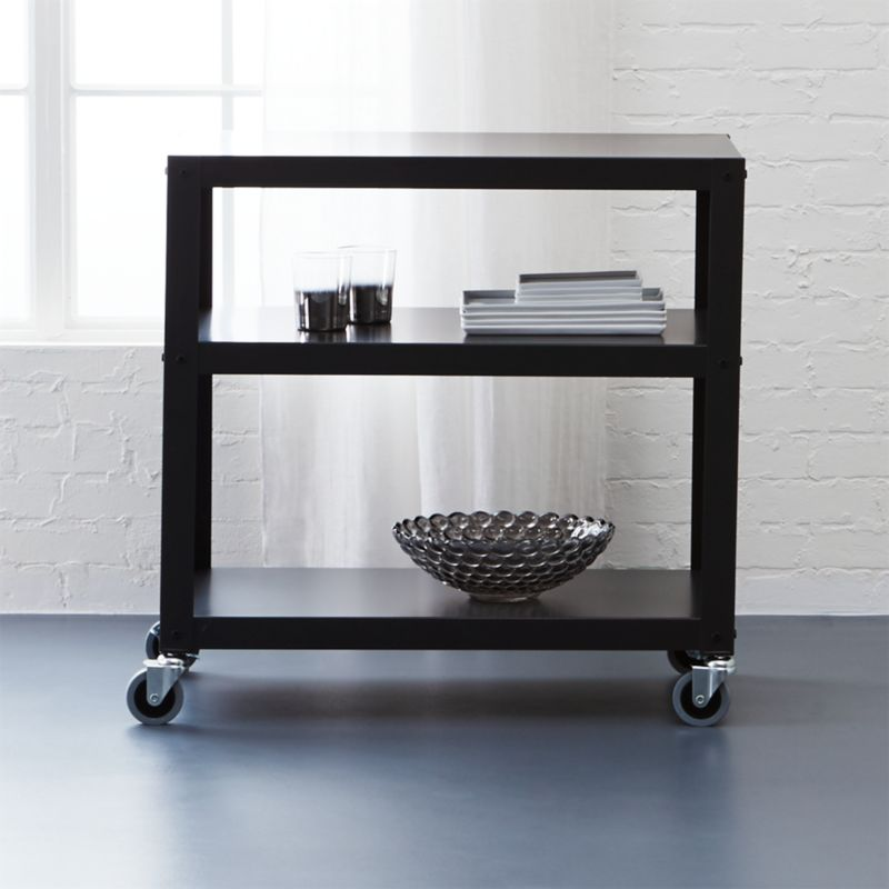 go-cart white kitchen rolling cart + Reviews | CB2
