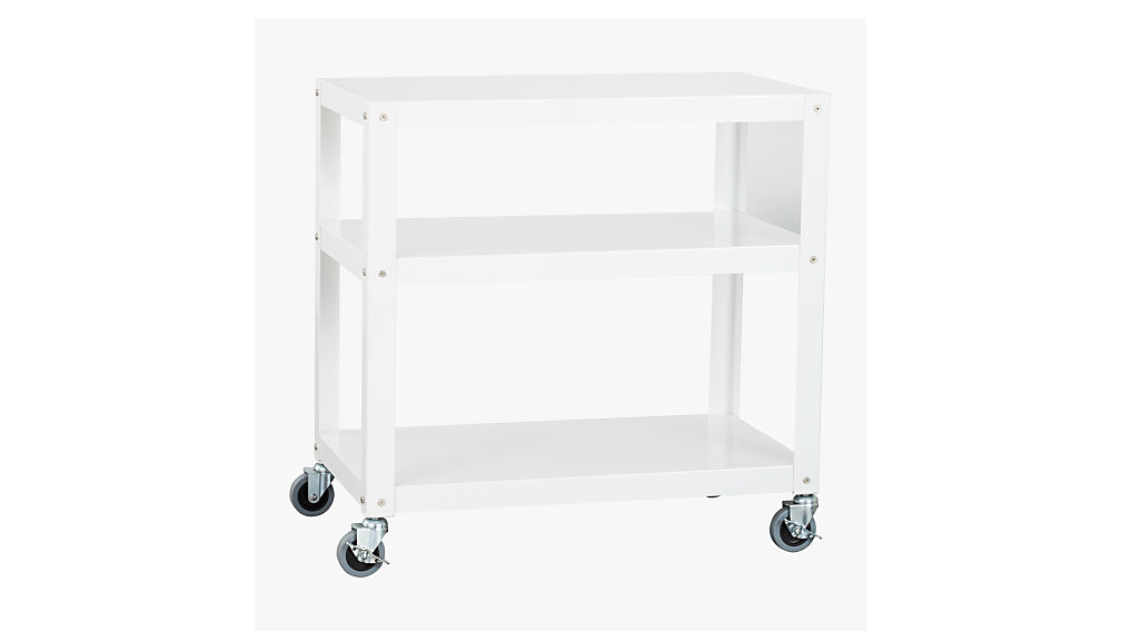 Go Cart White Kitchen Rolling Cart Cb2