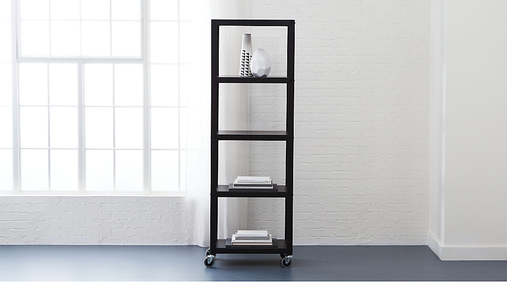 Go Cart Carbon Five Shelf Bookcase ...