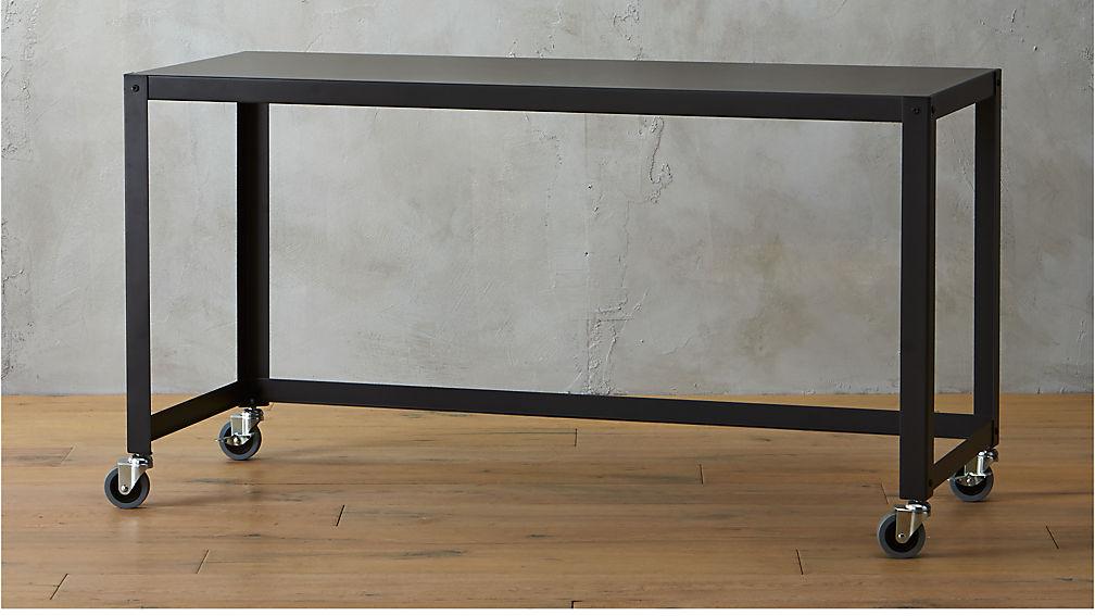 Go Cart Black Console Table On Wheels | CB2