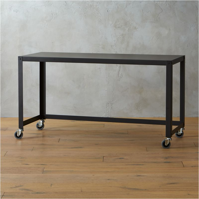 gocart carbon rolling console table