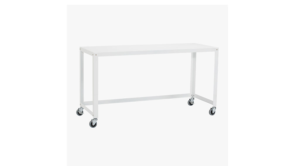 Go cart white rolling console table reviews cb