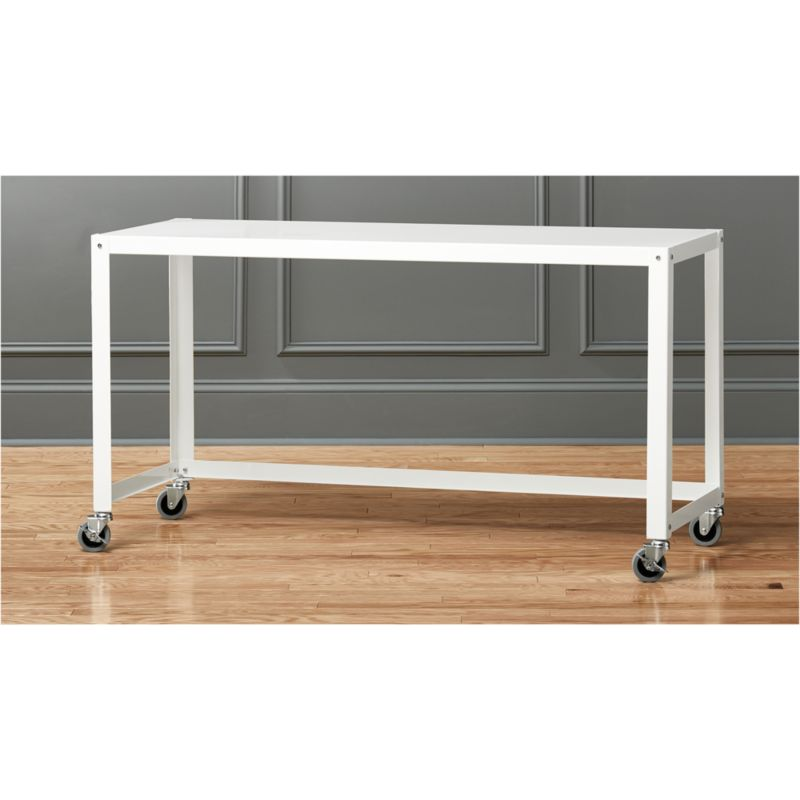 gocart white rolling console table Reviews CB2