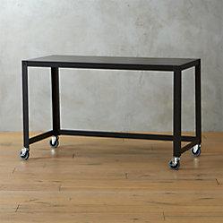 Go Cart Black Rolling Cart Cb2