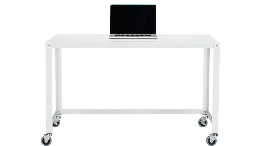 go-cart white rolling desk
