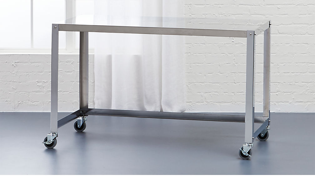 go-cart stainless rolling desk