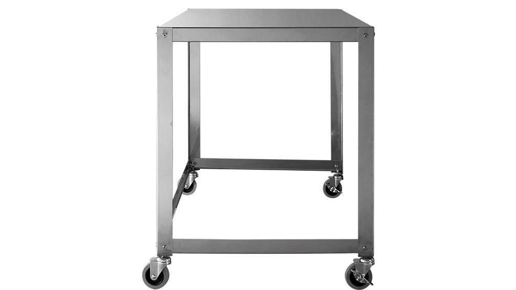 go-cart stainless rolling desk