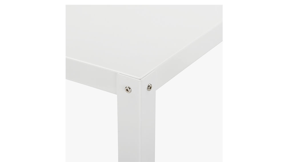 go-cart white rolling console table