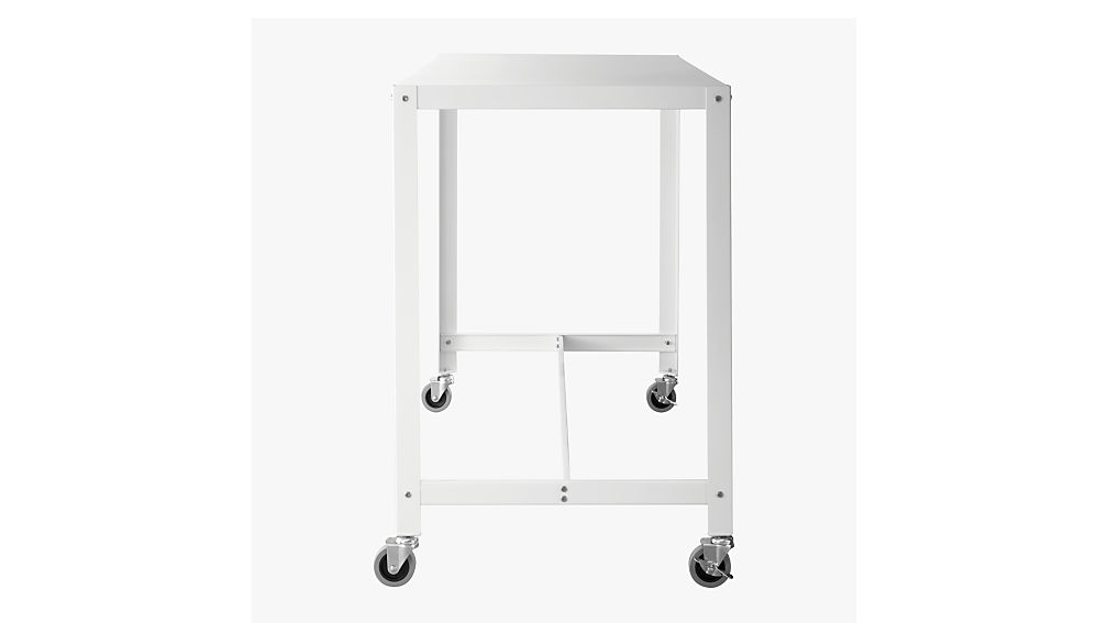 go-cart white rolling counter table-stand up desk