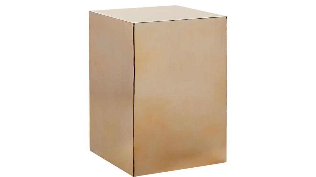 gold cube side table
