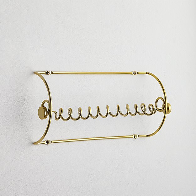 gold paper towel holder