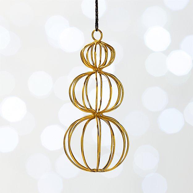 Gold Snowman Ornament