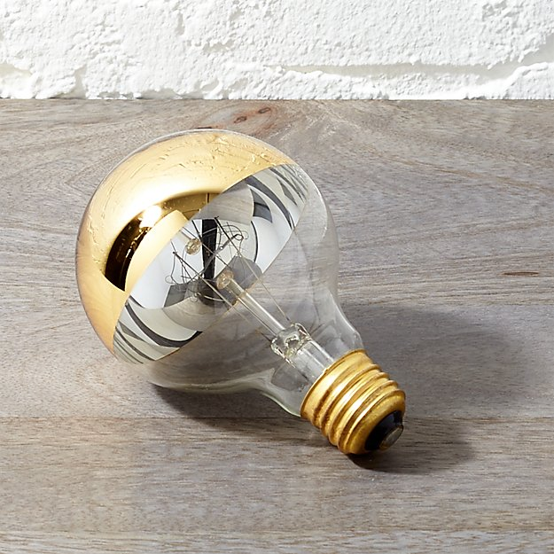 g25 gold tipped 60W light bulb