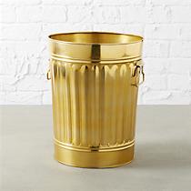 gold wastecan