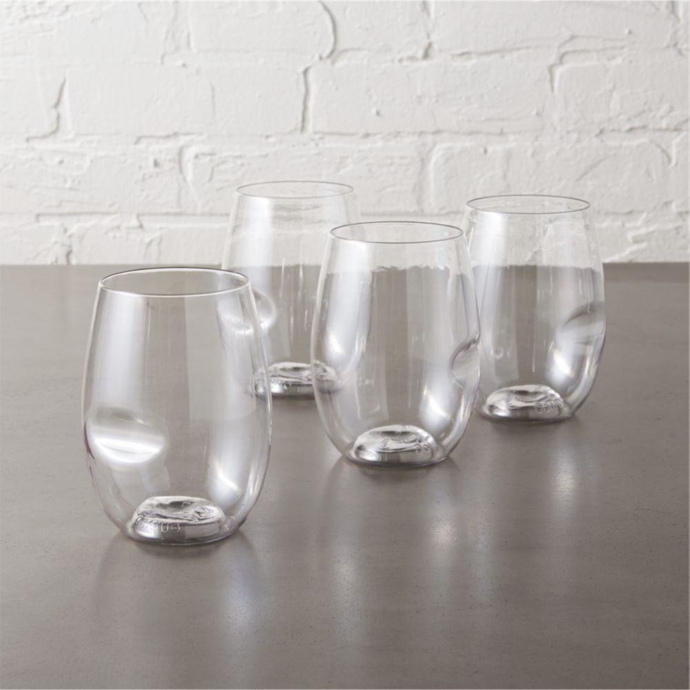 Cb2 coupons for set of 4 govino stemless wine glasses for Thin stem wine glasses