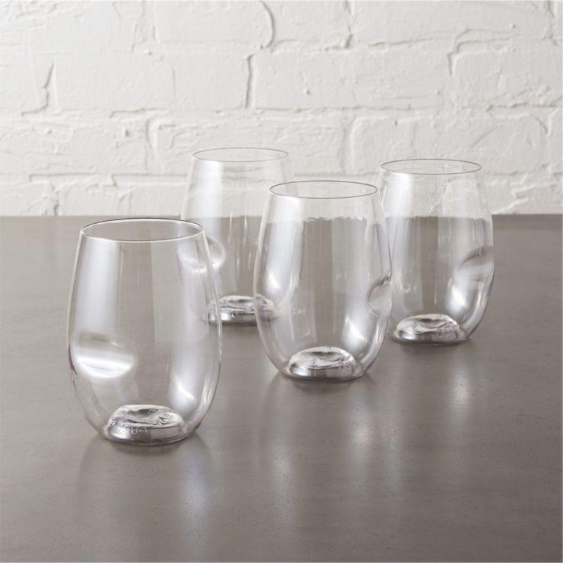 govino stemless wine glasses set of four