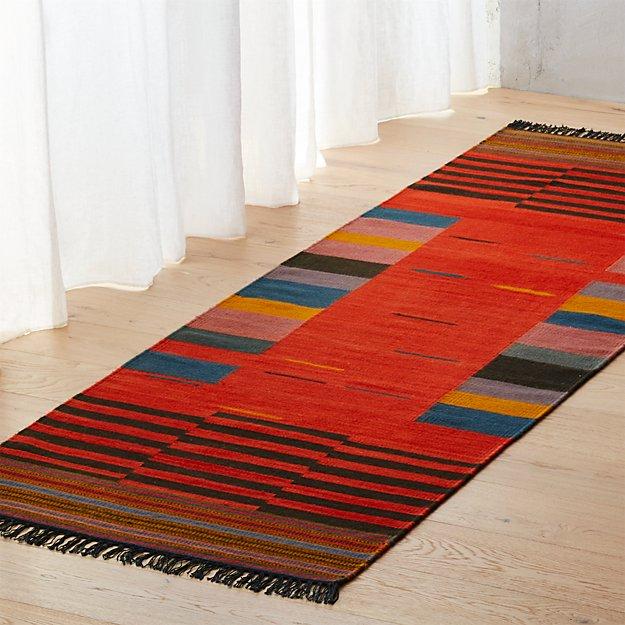 gradient rug 2.5'x8'