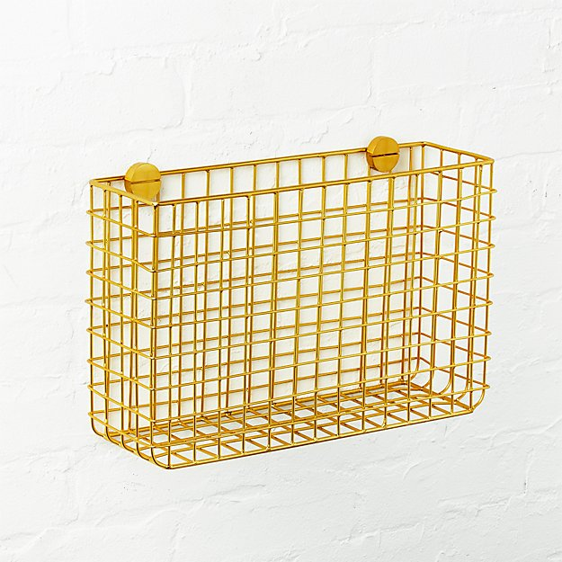 Grid Brass Magazine Rack