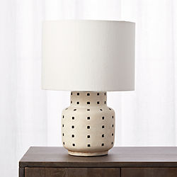 Grid Black And White Polka Dot Table Lamp