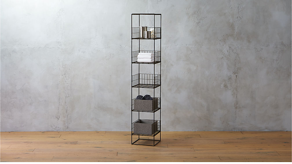 Grid Shelving Tower Reviews Cb2