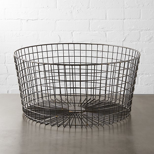 gridlock large raw industrial basket