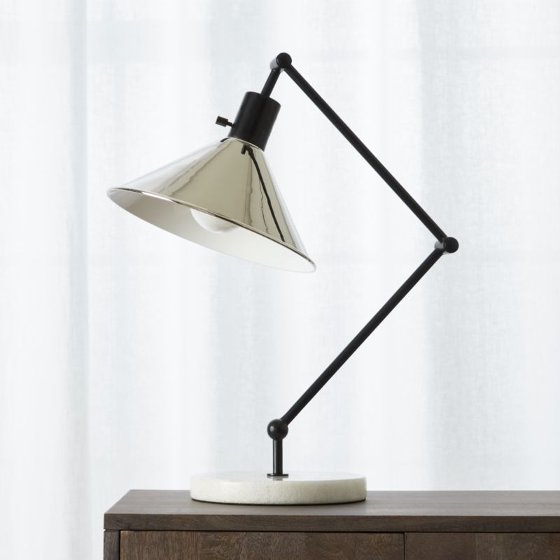 Gris Marble Base Table Lamp Reviews Cb2
