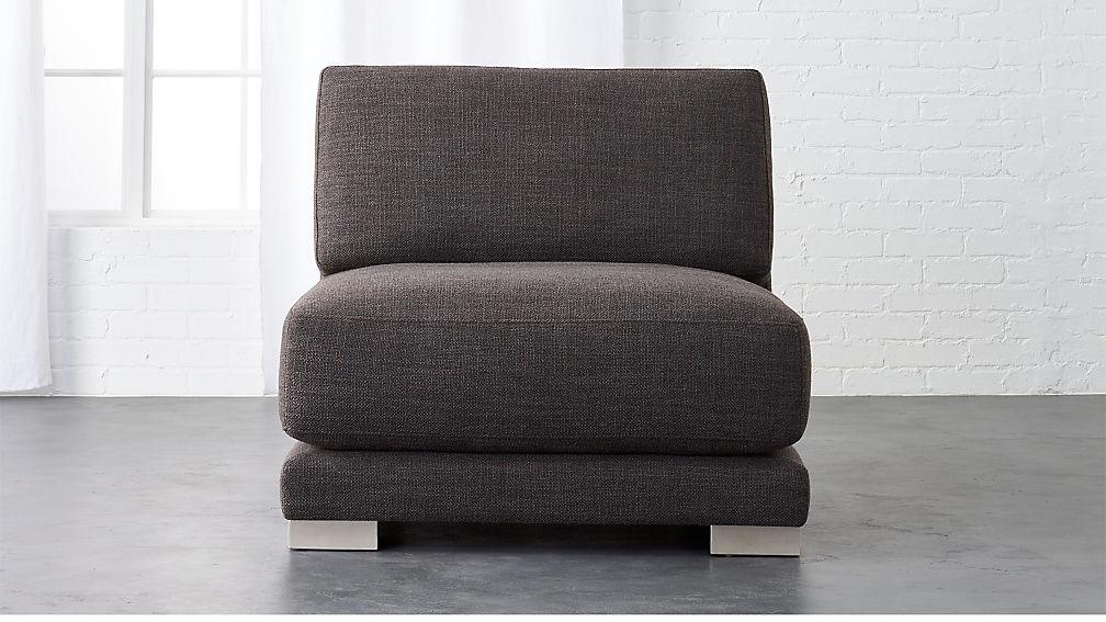 gybson earth grey armless chair