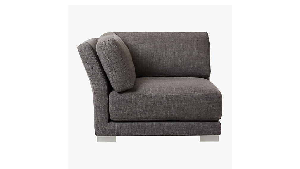gybson earth grey corner chair