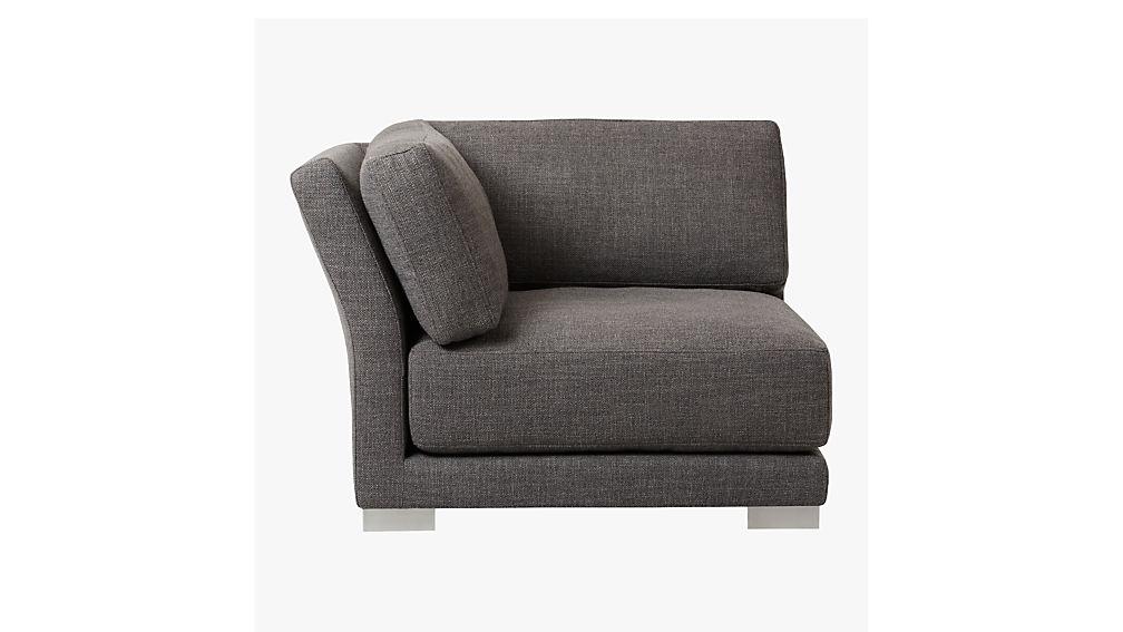 gybson earth grey corner chair