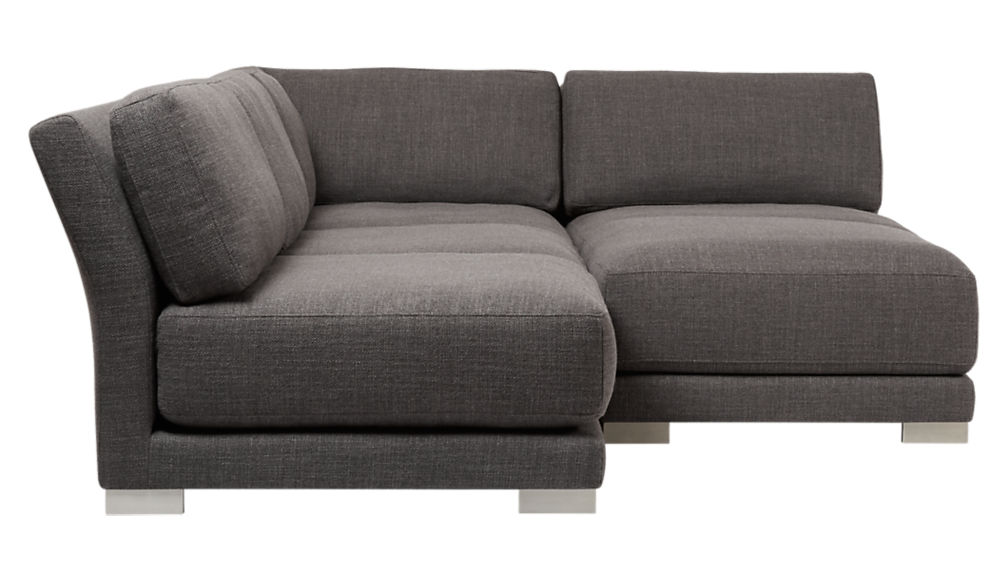 gybson 4-piece earth grey sectional sofa