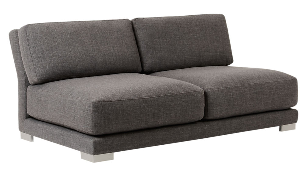 Gybson Earth Grey Loveseat Alpha Earth Cb2