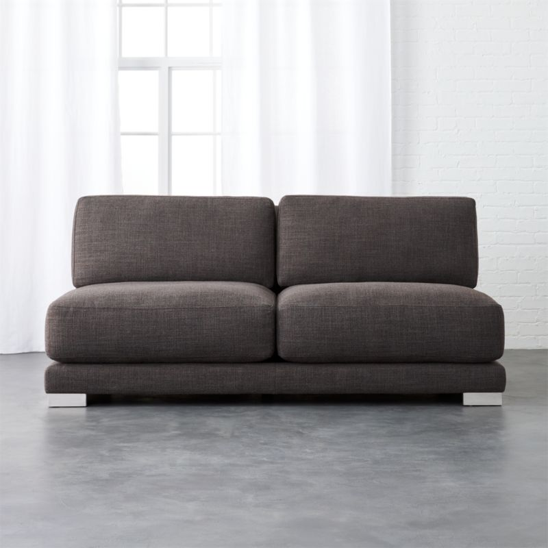 gybson earth grey loveseat Alpha: Earth : CB2
