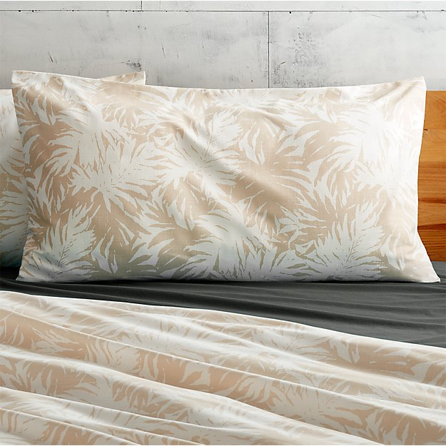 set of 2 The Hill-Side palm leaves natural king shams