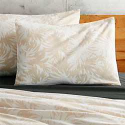 set of 2 The Hill-Side palm leaves natural standard shams