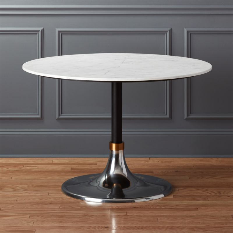 Hackney White Marble Dining Table In Dining Tables