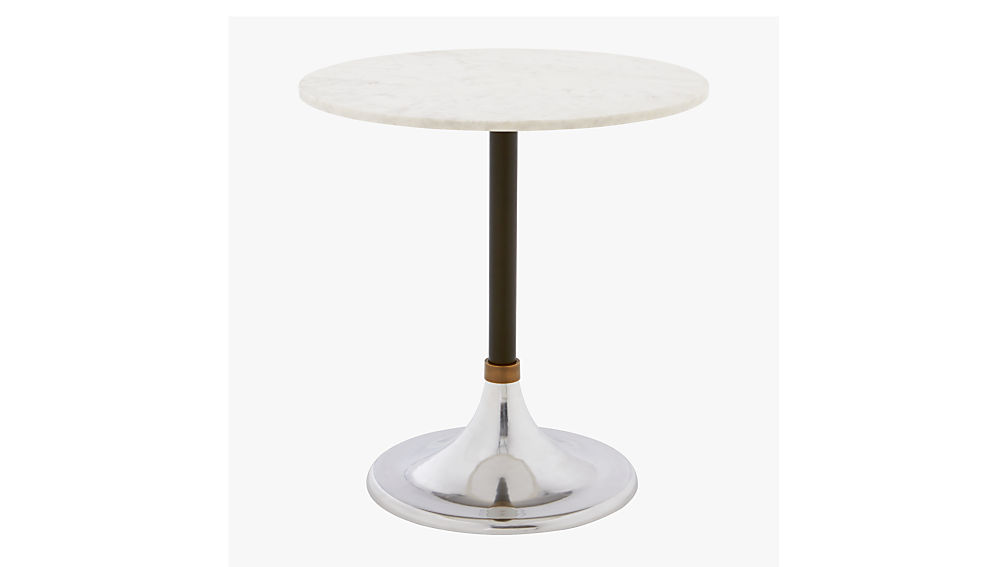 Hackney marble cocktail table in dining tables reviews cb2 for Cb2 marble coffee table