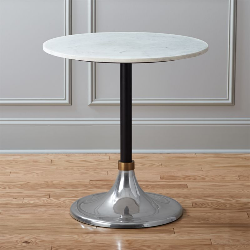 Marble Bistro Accent Table: Hackney Marble Cocktail Table + Reviews