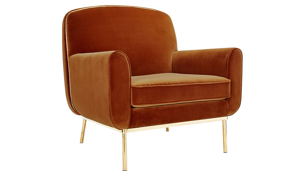 ... Halo Copper Velvet Armchair ...